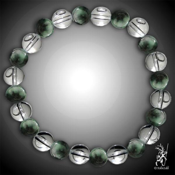 JUNGBRUNNEN Bodyresonanz Armband © (Smaragd, Bergkristall)
