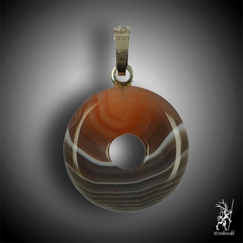 ACHAT Donut 15 mm Echtsilber Anhänger