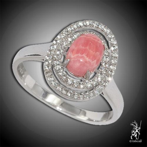RHODOCHROSIT TOPAS Design Echtsilber Ring Serie 1