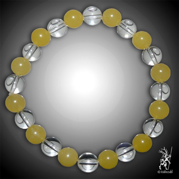 FROHSINN Bodyresonanz Armband © (Calcit gelb, Bergkristall)
