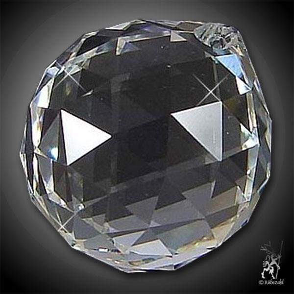 BERGKRISTALL Lichtkristall KUGEL M facettiert