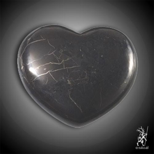 SCHUNGIT Herz bauchige Form