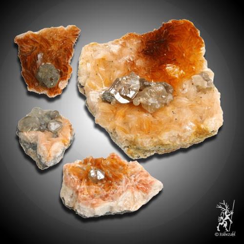 BARYT mit Cerussit Naturkristalle