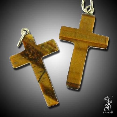 TIGERAUGE Kreuz Anhänger