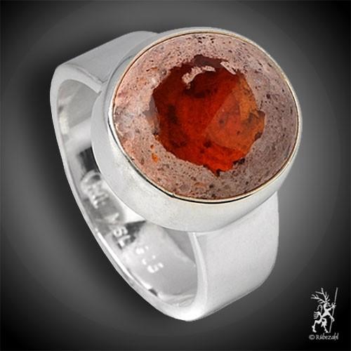 FEUEROPAL Cabochon Ring Größe/Durchmesser: 59 / 19 mm