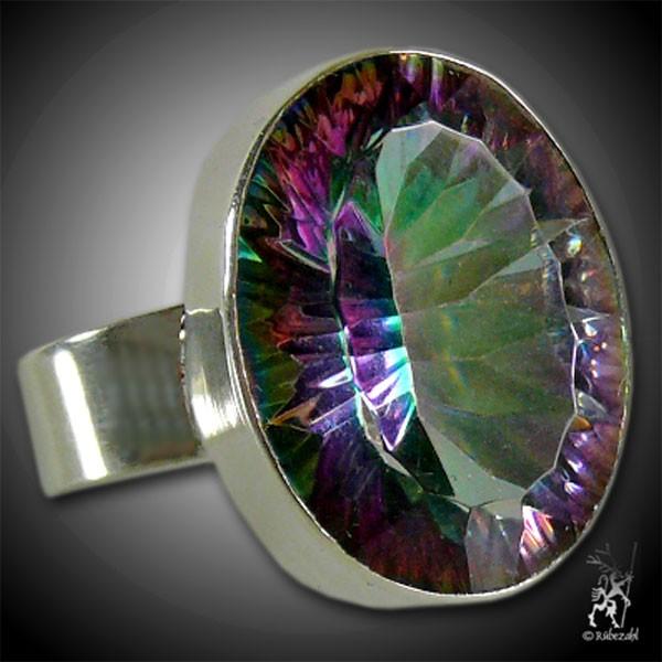 MYSTIC TOPAS facettiert Silber Ring Vario