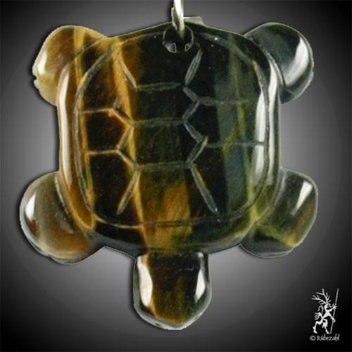 TIGERAUGE Schildkröte Schlüsselanhänger