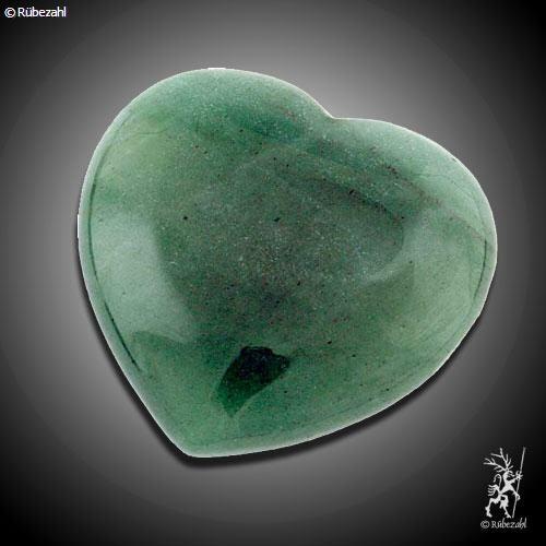 AVENTURIN QUARZ (grün) Herz Handschmeichler 55 mm