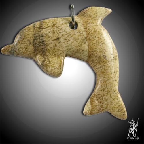 LANDSCHAFTSSTEIN Delfin Schlüsselanhänger