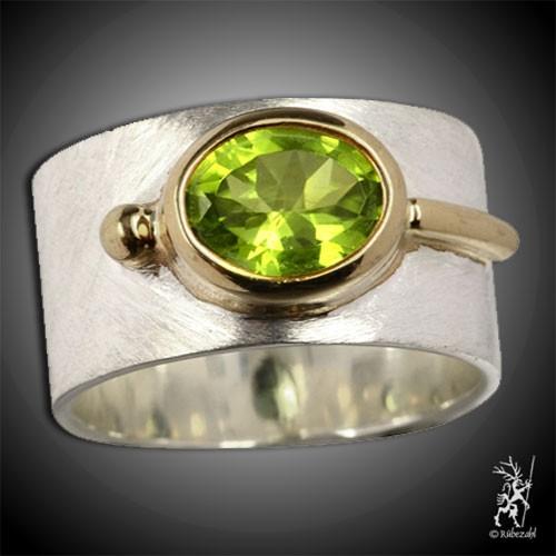 PERIDOT Design Echtsilber Ring